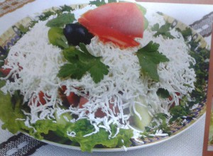 Salată Șopsca (Șopska salata)